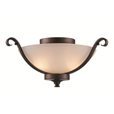 Eberle 2-Light Flush Mount Finish: Rubbed Oil Bronze