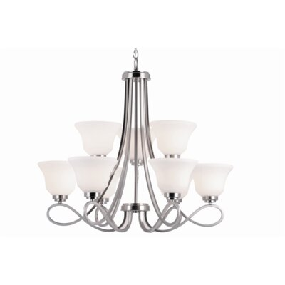 Elkville 9-Light Shaded Chandelier