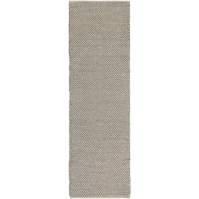 Strafford Hand-Woven Light Gray Indoor/Outdoor Area Rug Rug size: Runner 26 x 8