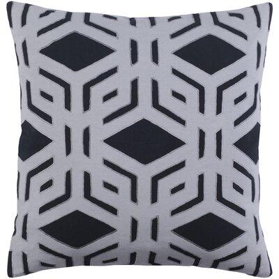 Rowan Cotton Pillow Cover Color: Black, Size: 20 H x 20 W x 0.25 D