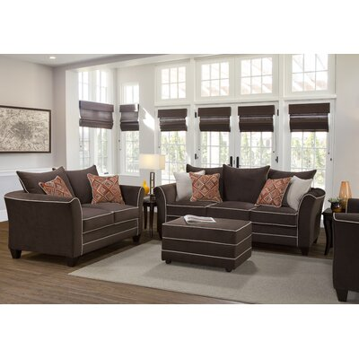 Serta Upholstery Deschamps Loveseat Upholstery: Bing Chocolate