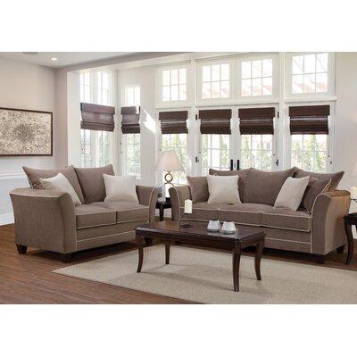 Serta Upholstery Deschamps Loveseat Upholstery: Bing Ash