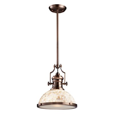 Susan 1-Light Bowl Pendant Finish: Satin Nickel