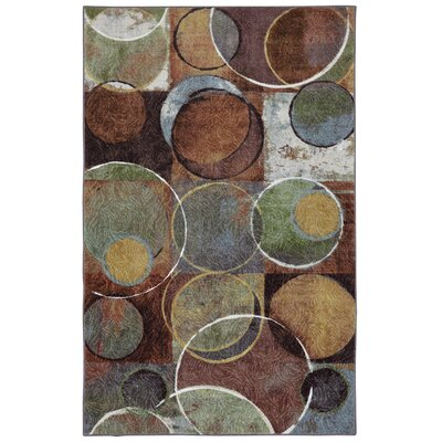 Vermillion Brown/Olive Green Area Rug Rug Size: Rectangle 5 x 8