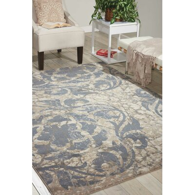 Aberdeen Ivory/Blue Area Rug Rug Size: Rectangle 3'10