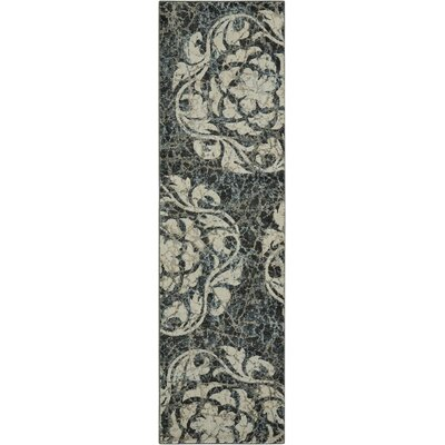 Aberdeen Ivory/Charcoal Area Rug Rug Size: Runner 2'2