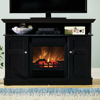 Grand View 43 TV Stand with Electric Fireplace Finish: Black