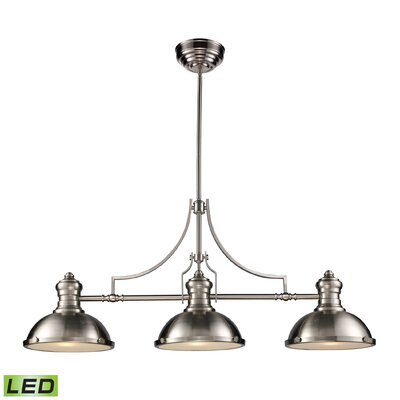 Susan 3-Light Pool Table Light Finish: Satin Nickel