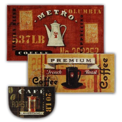 Bella 3 Piece Coffee Station Mat Set