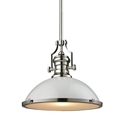 Susan 1-Light Bowl Pendant Finish: Satin Nickel, Size: 14 H x 17 W x 17 D