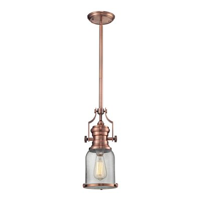 Susan 1-Light Mini Pendant Finish: Copper