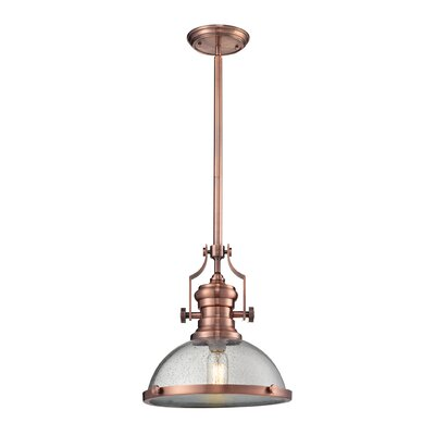 Susan 1-Light Bowl Pendant Finish: Polished Nickel