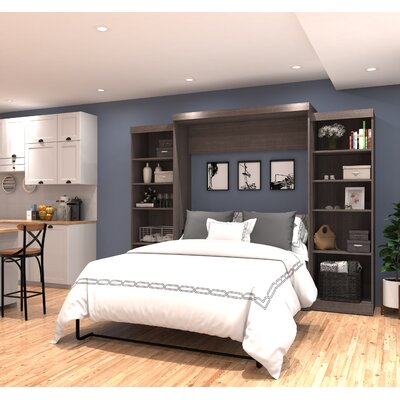 Jordan Queen Storage Murphy Bed Color: Bark Gray