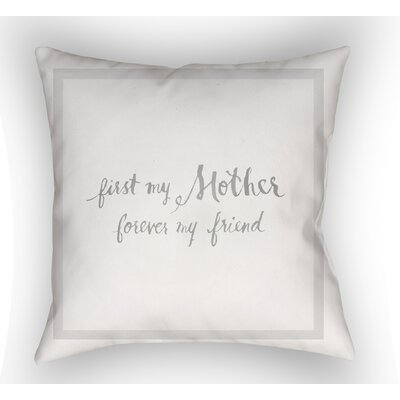 Merriwood Mother & Friend Indoor/Outdoor Throw Pillow Size: 18 H x 18 W