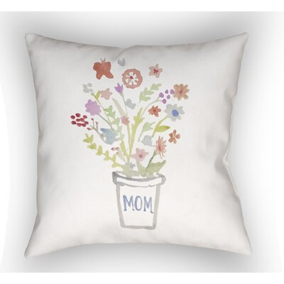 Francine Mom Bouquet Indoor/Outdoor Throw Pillow Size: 18 H x 18 W