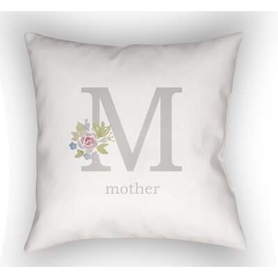 Oakcrest Mother Indoor/Outdoor Throw Pillow Size: 20 H x 20 W, Color: Gray