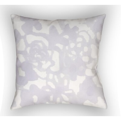 Glinda Pastel Floral Indoor/Outdoor Throw Pillow Size: 18 H x 18 W, Color: Pink