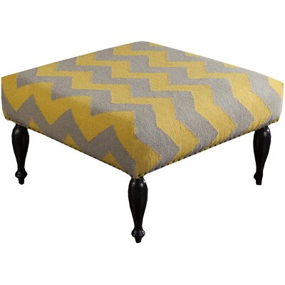 Ripley Ottoman Upholstery: Olive and Mustard