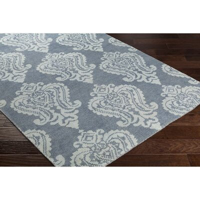Riverview Hand-Knotted Blue/Grey Area Rug Rug Size: 9 x 13