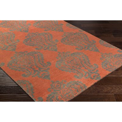 Riverview Hand-Knotted Blue/Green Area Rug Rug Size: 9 x 13