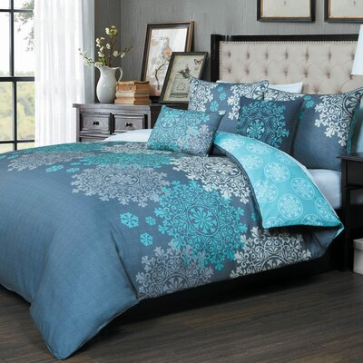 Rogers 5 Piece Duvet Cover Set Size: Full/Queen