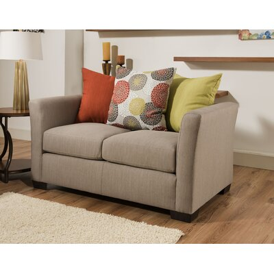 Simmons Upholstery Roulston Loveseat Upholstery: Gray