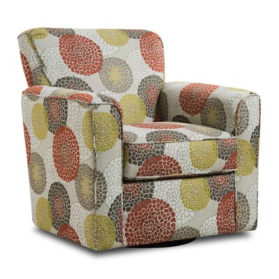 Simmons Upholstery Roulston Swivel Armchair Upholstery: Umber