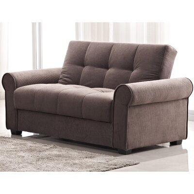 Rubin Click Clack Loveseat Color: Dark Brown