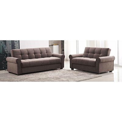Russell 2 Piece Living Room Set Color: Light Brown