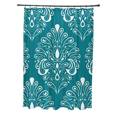 Selina Shower Curtain Color: Teal