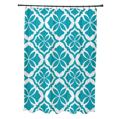 Murdock Shower Curtain Color: Turquoise