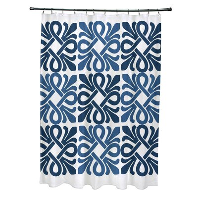 Temple Terrace Shower Curtain Color: Blue