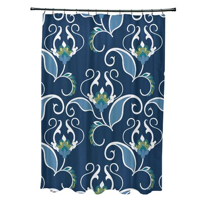 Harmen Shower Curtain Color: Blue