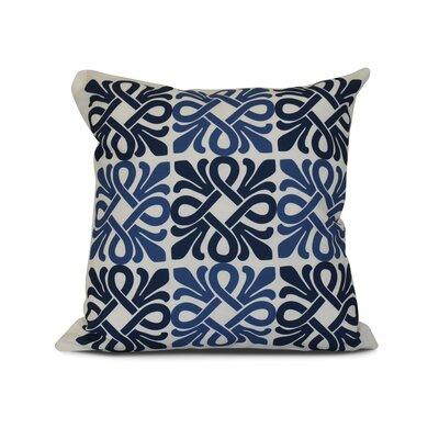 Temple Terrace Square Geometric Print Throw Pillow Size: 18 H x 18 W x 3 D, Color: Blue