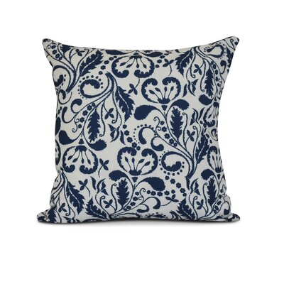 Rushton Throw Pillow Color: Blue, Size: 26 H x 26 W x 3 D