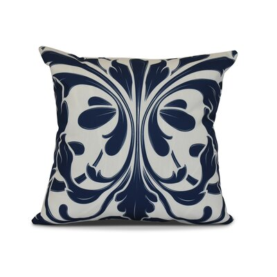 Harmen Outdoor Throw Pillow Size: 16 H x 16 W x 3 D, Color: Blue