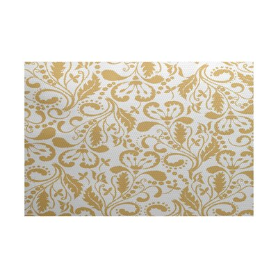 Rushton Yellow Indoor/Outdoor Area Rug Rug Size: 3 x 5