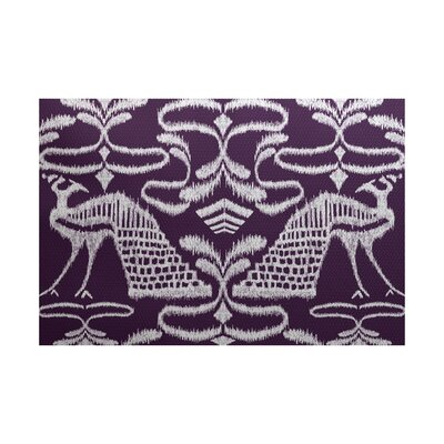 Selina Purple Indoor/Outdoor Area Rug Rug Size: 2 x 3