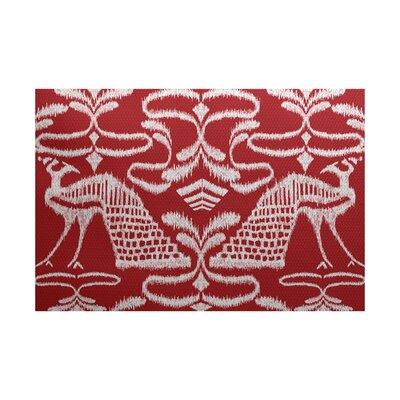 Selina Red Indoor/Outdoor Area Rug Rug Size: 5 x 7