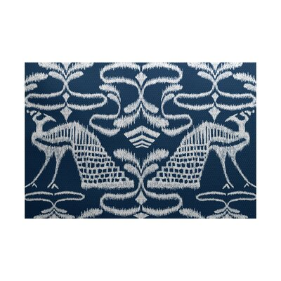 Selina Blue Indoor/Outdoor Area Rug Rug Size: 4 x 6