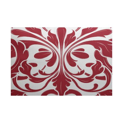 Selina Red Indoor/Outdoor Area Rug Rug Size: 4 x 6