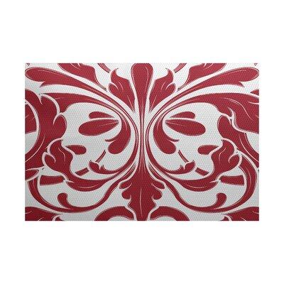 Selina Red Indoor/Outdoor Area Rug Rug Size: 5 x 7