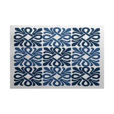 Selina Blue Indoor/Outdoor Area Rug Rug Size: 4 x 6