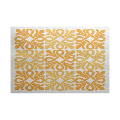 Selina Yellow/White Indoor/Outdoor Area Rug Rug Size: 3 x 5