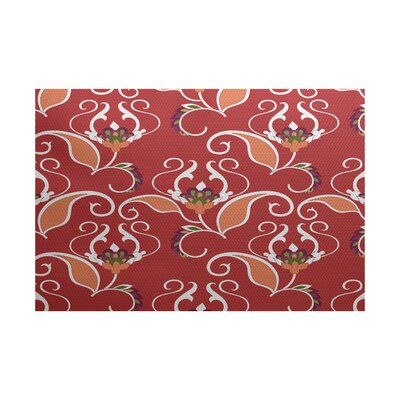 Selina Red Indoor/Outdoor Area Rug Rug Size: 3 x 5