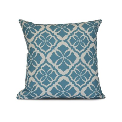 Selina Ceylon Geometric Print Throw Pillow Color: Turquoise, Size: 18 H x 18 W x 3 D