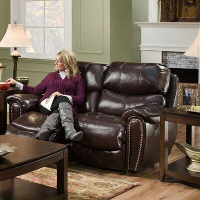 Carolina Power Motion Leather Reclining Loveseat Upholstery: Chocolate