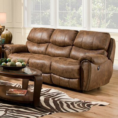 Carolina Power Motion Reclining Sofa Upholstery Color: Fabric - Walnut