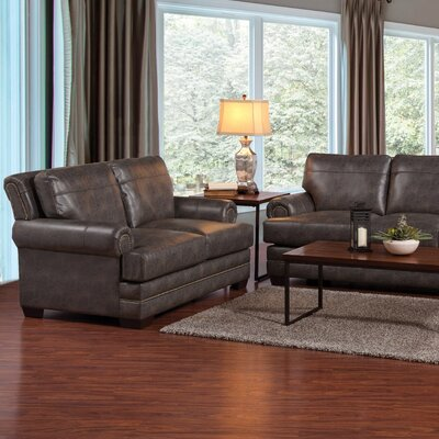 Serta Upholstery Domingues Loveseat Upholstery: Softie Ash