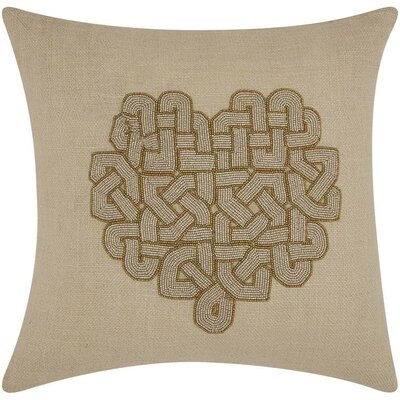 Searsmont Jute Throw Pillow Color: Silver Copper
